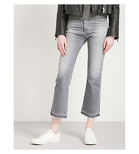AG Jodi cropped flared high-rise jeans (15+years+grey+sulfur