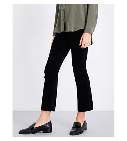 AG Jodi slim-fit flared cropped velvet jeans (Super+black