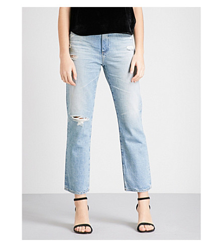 AG Rhett regular-fit straight high-rise jeans (21+years+cadet+blue