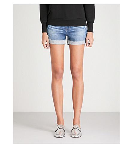 AG Hailey denim shorts (11+years+teal+sky