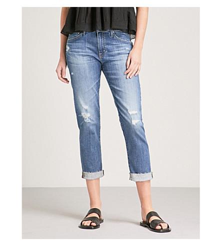 AG The Ex-Boyfriend high-rise slouchy jeans (11+years+teal+sky