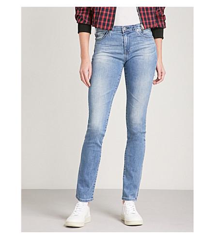 AG Harper straight mid-rise jeans (Sea+sprite