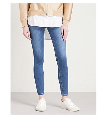 AG Mila skinny high-rise jeans (Indigo+viking
