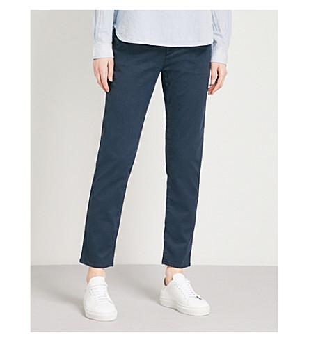 AG The Caden cigarette-fit stretch-twill trousers (Sulfur+dark+cove