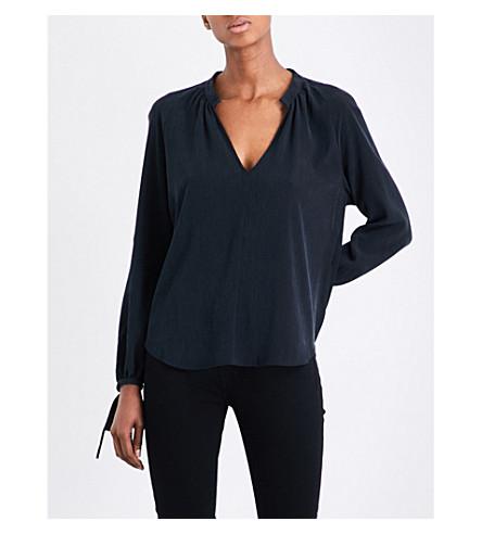AG Karina woven top (Washed+black