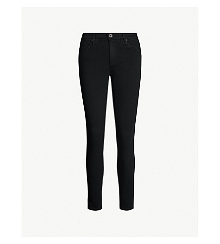 AG The Legging Ankle super-skinny mid-rise jeans (Super+black