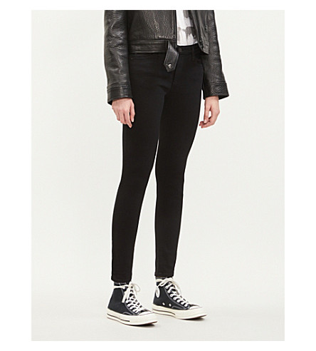 AG The Farrah super-skinny mid-rise jeans (Super+black