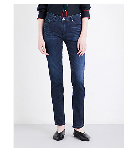 AG The Prima cigarette mid-rise jeans (Gallant