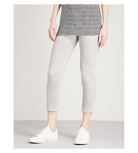 AG The Prima Crop straight mid-rise jeans (Sulfur+grey+dawn