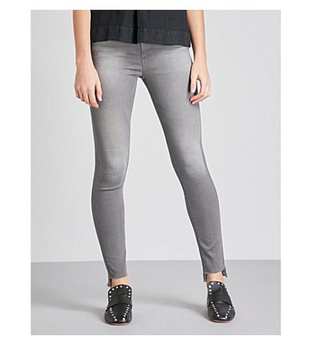 AG The Farrah stepped-hem super-skinny high-rise jeans (10+years+grey+shadow