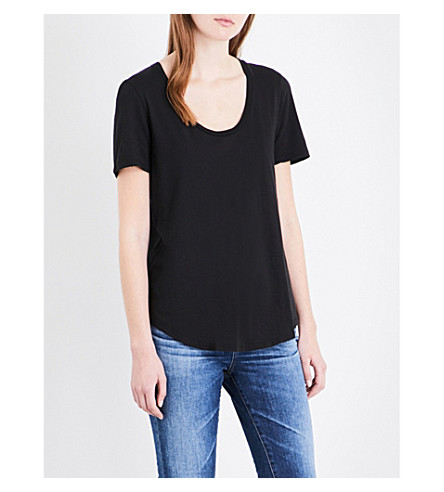 AG The Kiley cotton-jersey T-shirt (True+black