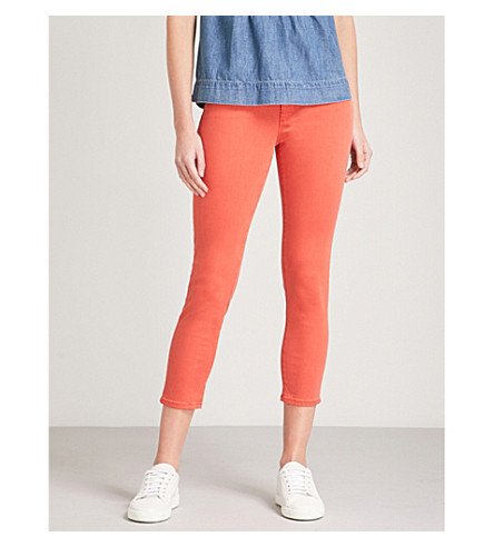 AG The Prima Crop slim mid-rise jeans (Hi+white+tangelo