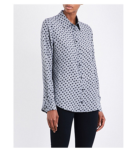 AG Sandra silk shirt (Starline+trye+blck/ivory