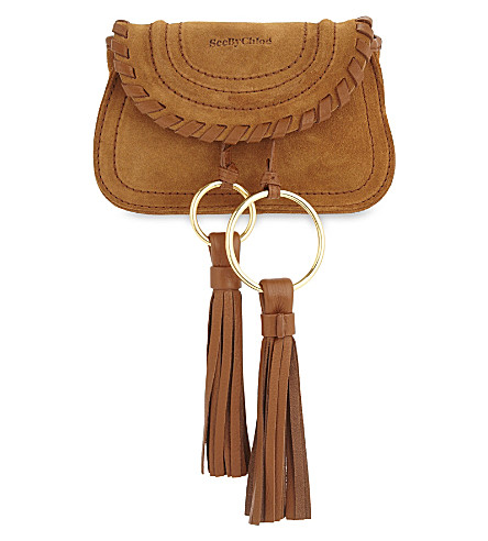 SEE BY CHLOE Mini suede cross-body bag (Caramelo