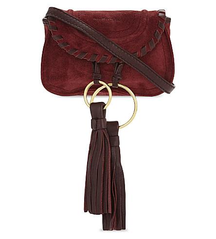 SEE BY CHLOE Suede mini shoulder bag (Acerola