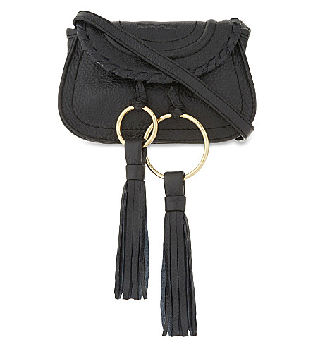 SEE BY CHLOE Mini Andy leather cross-body bag (Black