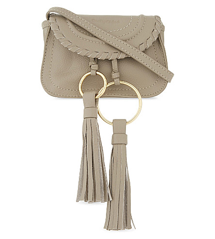SEE BY CHLOE Mini Andy leather cross-body bag (Motty+grey