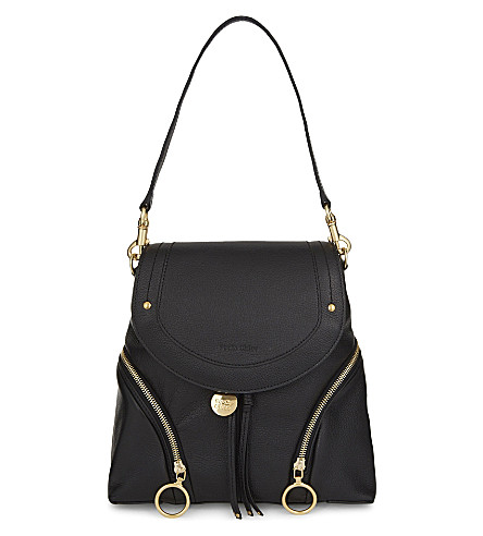 SEE BY CHLOE Olga leather backpack (Black