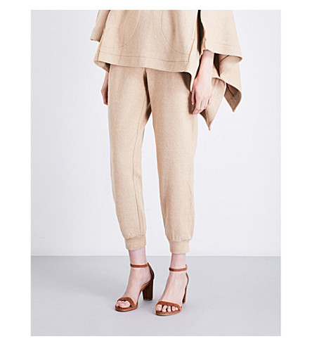SEE BY CHLOE Elasticated-waist knitted trousers (Camel
