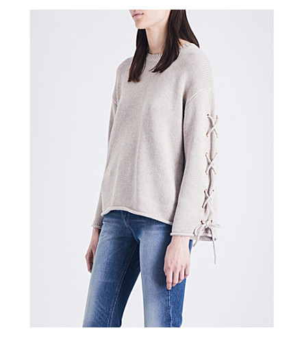 SEE BY CHLOE Cross-tie knitted jumper (Birch