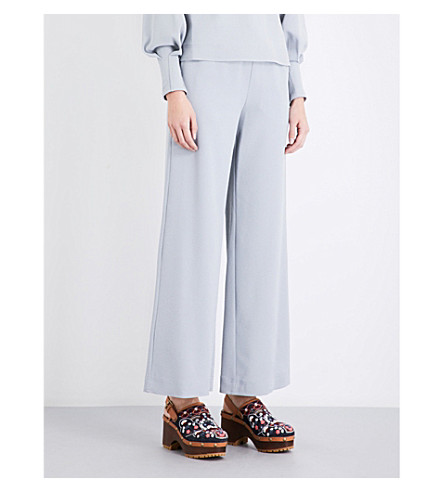 SEE BY CHLOE Straight crepe trousers (Airy+grey