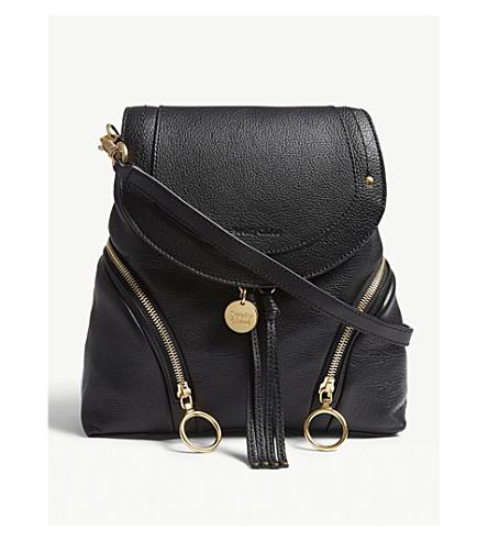 SEE BY CHLOE Olga leather backpack (Black