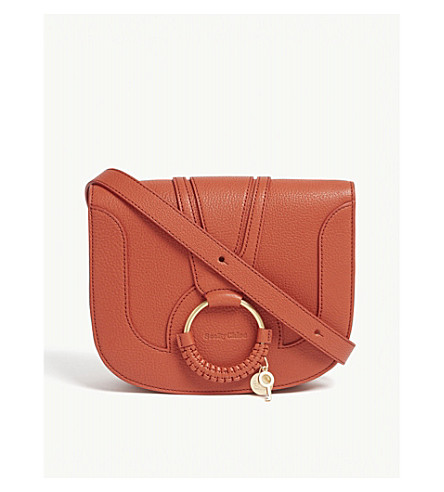 bag cross grained CHLOE small body SEE leather sand Hana BY Red 7xC8f