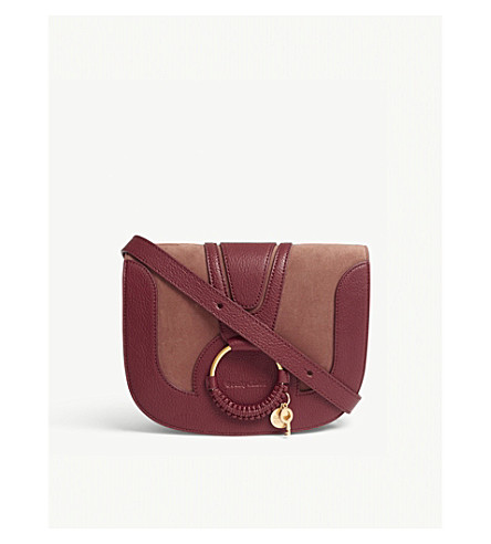 SEE BY CHLOE Hana small suede and leather cross-body bag (Nr27r+acerola