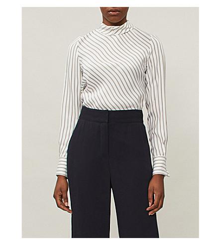 1 blanco SEE tejida negro CHLOE rayas BY a Camisa nFOwxA8pq