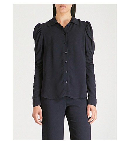 Ink crepe CHLOE navy SEE BY shirt SEE BY Ruched P0xnXq