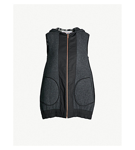 SEE BY CHLOE Sleeveless double-faced wool-blend jacket (Multicolor grey 1