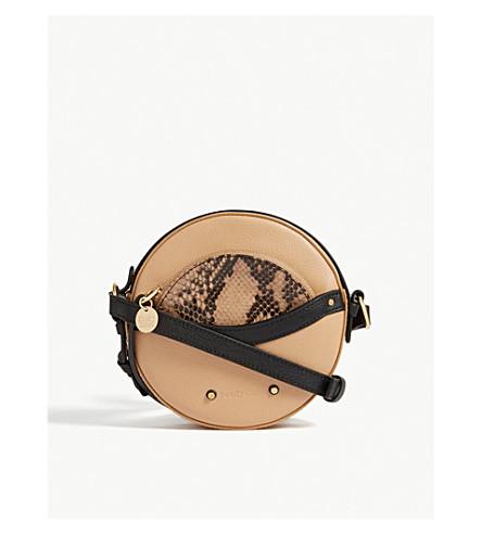 SEE circular cuero BY Bandolera pequeña nude Blush granulado de CHLOE Rxqp6wZrR