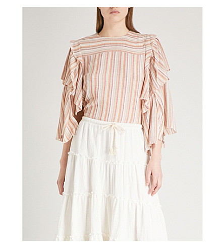 SEE BY CHLOE Ruffled woven blouse (Multicolor+2