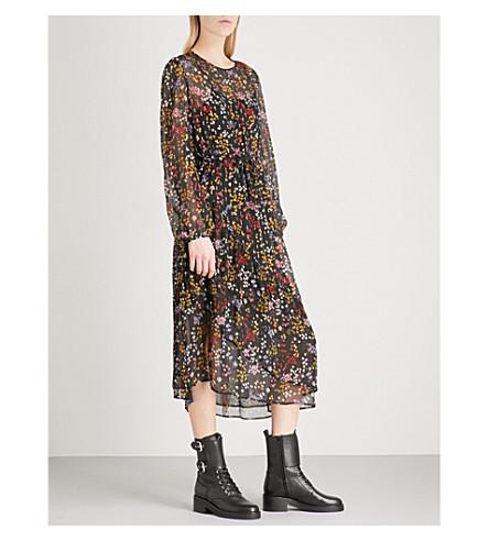 SEE BY CHLOE Disco floral-print silk-chiffon dress (Multicolor+black+1