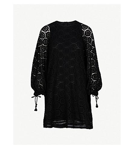 SEE BY CHLOE Crocheted cotton mini dress (Black
