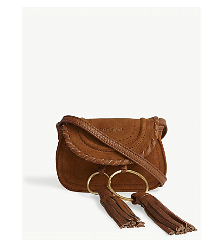 SEE BY CHLOE Andy mini suede cross-body bag (Caramelo