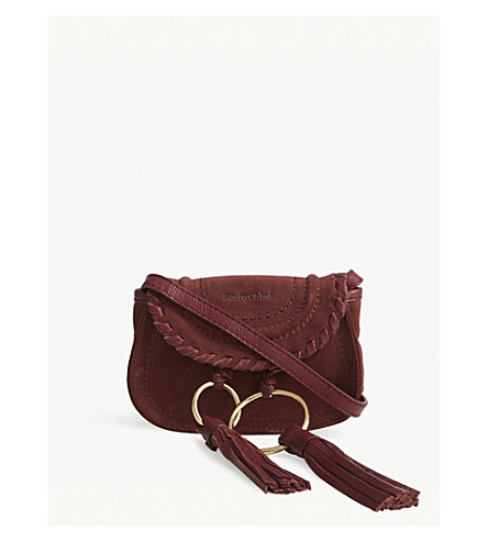 SEE BY CHLOE Andy mini suede cross-body bag (Sienna+red