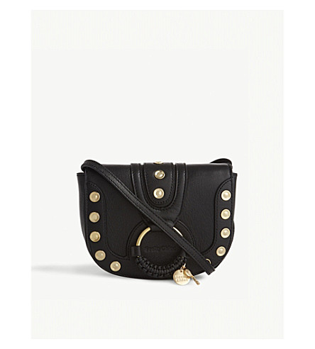 SEE BY CHLOE Hana studded mini leather cross-body bag (Nr001+black