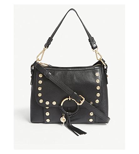 SEE BY CHLOE Joanne studded leather shoulder bag (Nr001+black