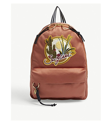 SEE BY CHLOE Desert canvas backpack (Cheek
