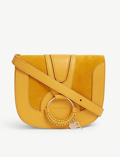 467a270ab48d SEE BY CHLOE Hana suede and leather cross-body bag