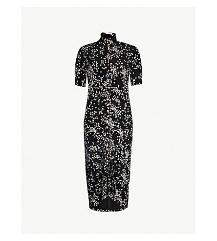 SEE BY CHLOE Floral-print stretch-jersey dress (Mul blk