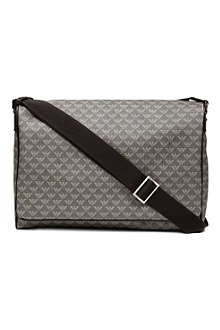 EMPORIO ARMANI All-over logo messenger bag