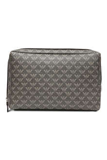 EMPORIO ARMANI All-over logo wash bag