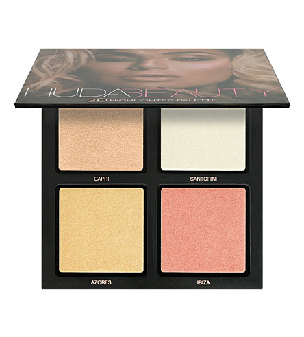 HUDA BEAUTY Pink Sands 3D Highlighter Palette (Pink
