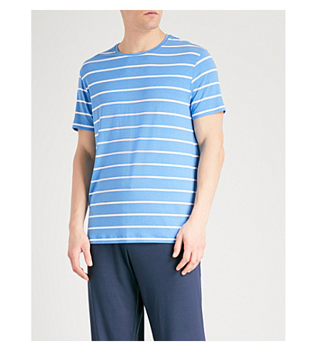 DEREK ROSE Alfie striped jersey T-shirt (Blue