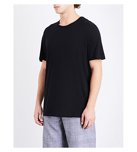 DEREK ROSE Riley cotton-jersey pyjama top (Black