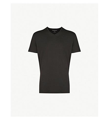 DEREK ROSE Basel stretch-jersey T-shirt (Black