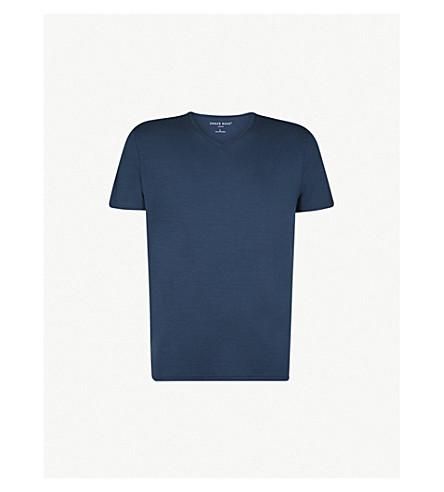 DEREK ROSE Basel stretch-jersey T-shirt (Denim