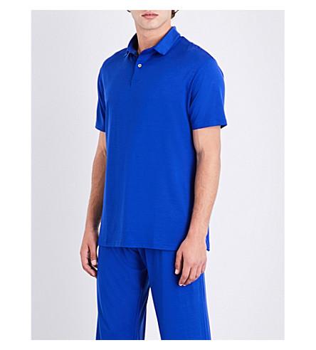 DEREK ROSE Basel stretch-jersey polo shirt (Brt+blue